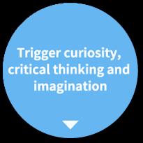 好奇心・思考力  創造力を育てる。